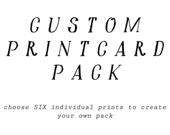 PRINTCARD, Create Your Own Set of 6 - 5x5