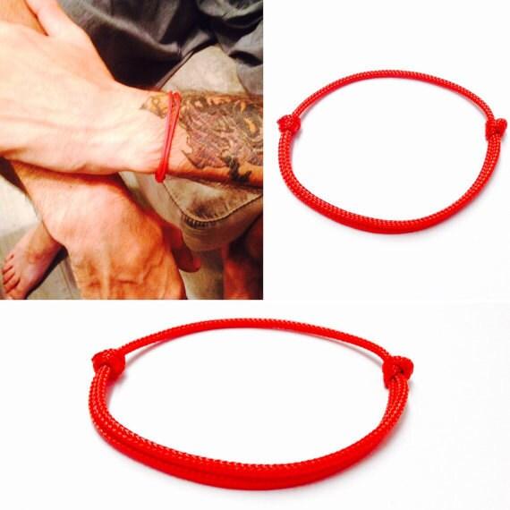 50 Red String Bracelet Simple Knot Bracelet Red Knot