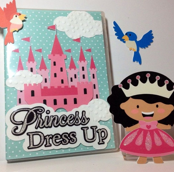Tiny Princess Paper Dolls Cut Files for Cutting Machine - Silhouette Cameo - Includes PDF, SVG, AI, E.P.S - Layered Images with Instructions