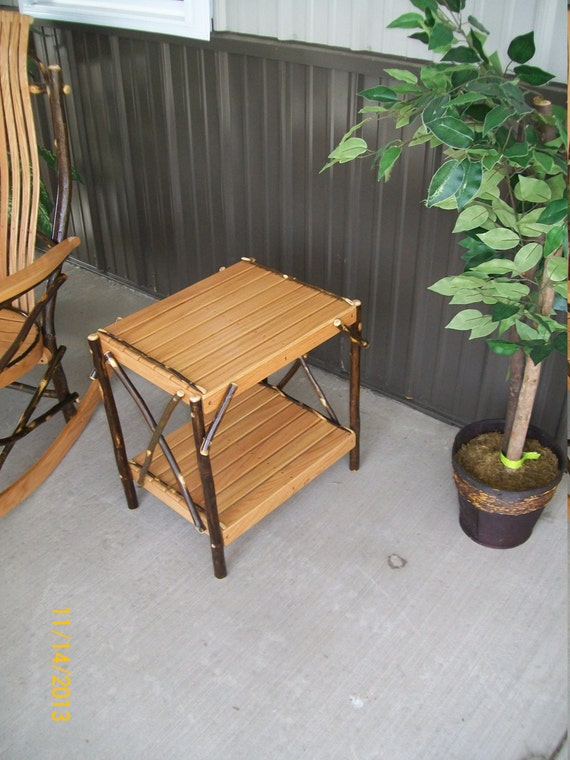 Hickory End Table - compliments our Hickory Rockers and Gliders