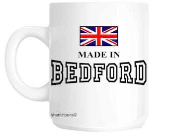 Made Born In Bedford Birthday Gift Mug shan516