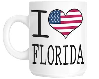 Florida I Love Novelty Gift Mug SHAN140