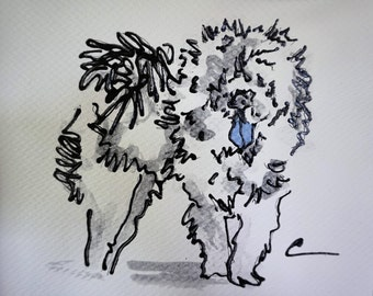 8.5x11 acrylic Chow Chow Painting,Chow illustration,Cream Chow art,Chow drawing,Chow artwork,Art under 20,original chow art,hand made chow
