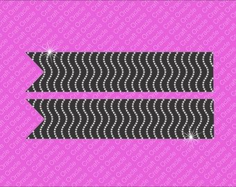 Waves rhinestone bow strips Jumbo size
