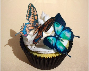 Edible Wafer Butterflies, Edible Butterfly, Cupcake Decoration, Birthday Cupcakes, Wedding Cupcakes, Butterfly Birthday, Butterfly Theme