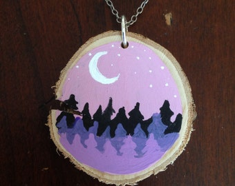Purple Moon Pendant