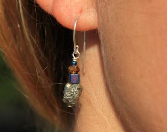Pyrite Bead Drop Earrings