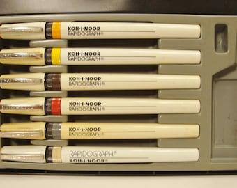 Vintage Drafting Pen Set