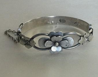 Vintage Chinese Silver Bangle Bracelet
