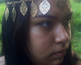 Gold Hair jewelry head chain head band