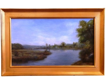 Thimgan Hayden River Landscape Oil on Canvas