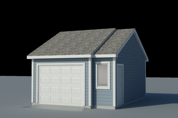 Build Your Own 16' X 22' Garage DIY Plans Fun To