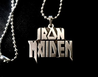 New Iron Maiden Necklace 925 Silver Plated Jewelry