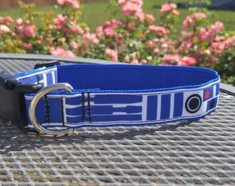 R2D2 Star Wars inspired dog collar