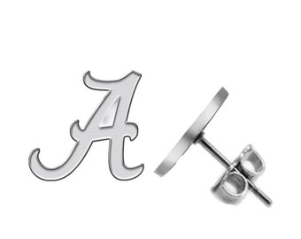 University of Alabama Crimson Tide  Logo  Earrings - Available in Three Styles - See Pictures and Choose Size and Style