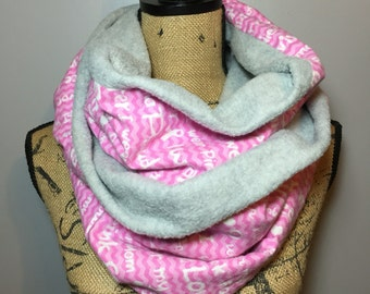 breast cancer awareness scarf support pink go pink breast cancer awareness accessories double loop