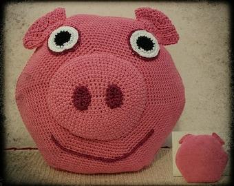 Crochet Piggy Cushion