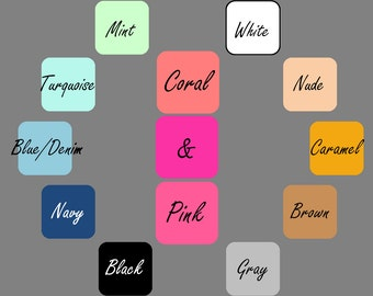 COLOR &/OR FONT Customization To Order