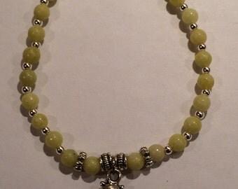 Yellow Serpentine Teddy Bear Bracelet