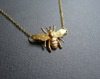 Bug. Necklace. Free shipping.