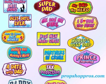 Daddy Daughter Props | Daddy Daughter Signs | Photo Booth Props | Prop Signs