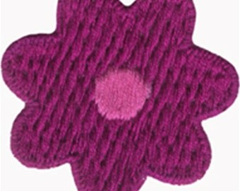 """1 7/8"""" - 4.7 cm - Fuchsia Flower Applique Sew On Patch Craft Supplies w/ Free Shipping"""