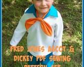 Fred Jones Kids Costume Collar and Ascot Sewing Pattern,Digital Download, PDF Sewing Tutorial - Boys Fred Jones Costume Sewing Tutorial, DIY