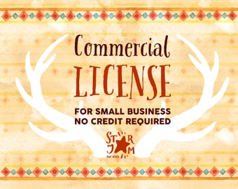 The Commercial License for small business (NO Credit required) / SINGLE product