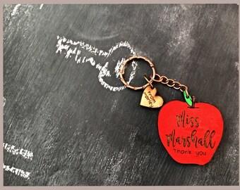 Personalised teacher Key ring, Best teacher gift, Teacher gift ,End of year gift, Nursery worker