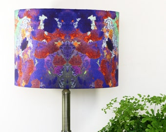 Abstract Lampshade Pendant or Lamp PhoneHome Print by Evelle Home