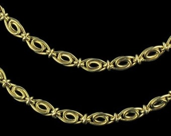 Chain necklace in 18K necklace gold old gold