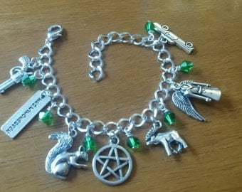 Deluxe supernatural silver bracelet available in adult and child sizes