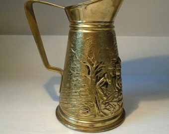 Decorative English-made Brass Pitcher
