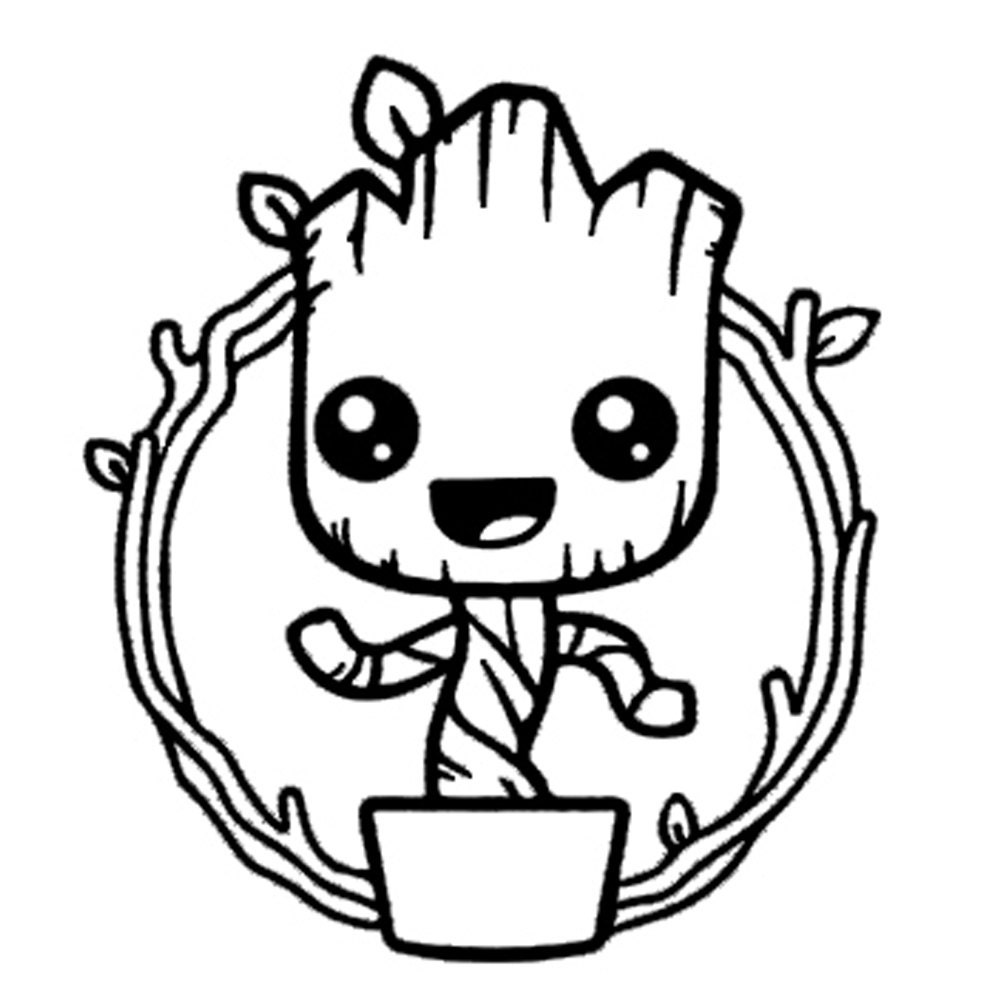 Baby Groot Vinyl Decal Wall Art I am Groot