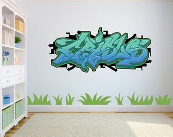 Attrayant Custom Made Graffiti Wall Decal