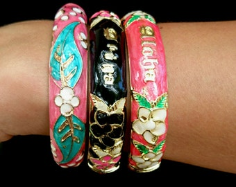 Free Shipping > Classic Meenakari Bangle, handpainted