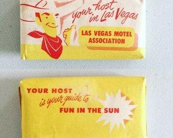 Vintage Midcentury Las Vegas Hotel Soap Retro Graphic Design