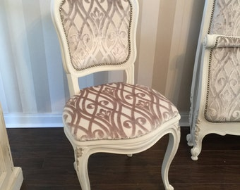 Bedroom French upholstered chair