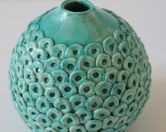 Green/Blue Vase with skin-green/blue vase