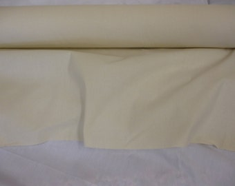 "Plain Natural 100% Cotton Calico Fabric. 60""/152cm Wide. Mid weight 150gsm. Price Per Metre."