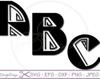 SVG Alphabet Line, SVG Fonts Line, cutting files, Alphabet cutouts Dxf, Letters cut files, silhouette, svg files for cricut