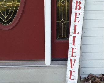Holiday Believe Pallet Sign