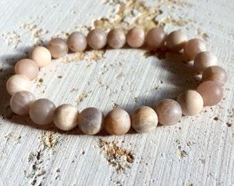 Pink sunstone bracelet,sunstone bracelet,mans sunstone bracelet,woman sunstone bracelet,opal bracelet,mala bracelet,yoga pink