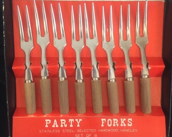 Party supply, Party forks, hors d'oeuvres, appetizer, olive forks. FREE SHIPPING