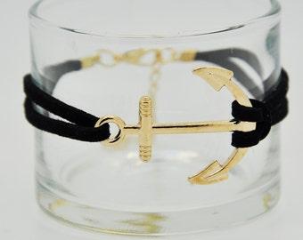 Anchor Bracelet, Charm Bracelet, Gold Anchor Bracelet.