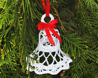 Crochet bells crochet christmas bells,christmas tree toy,christmas ornaments,white bells,knit bells,christmas decoration,christmas toys