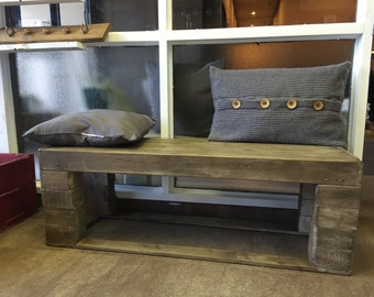Euro pallets wooden bench