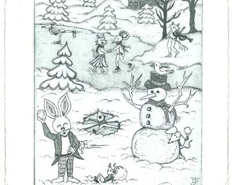 Winterland Christmas Etchings