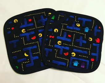 Video Game Pot Holders - set of two