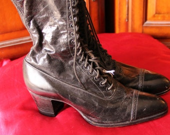 Authentic Edwardian Women's Boots Made 1915 (Black)